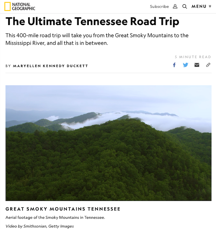 The Ultimate Tennessee Road Trip